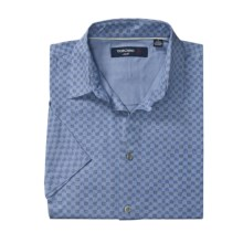 Toscano Patterned Shirt - Silk-Rayon, Short Sleeve (For Men) in Powder Blue - Closeouts