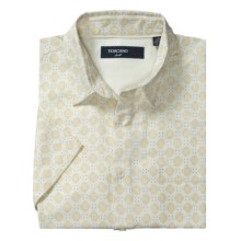 Toscano Patterned Shirt - Silk-Rayon, Short Sleeve (For Men) in Seashell Medallion Print - Closeouts