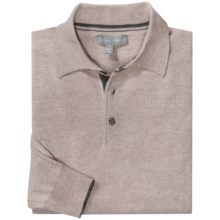 Toscano Polo Sweater - Italian Merino Wool (For Men) in Earl Grey - Closeouts