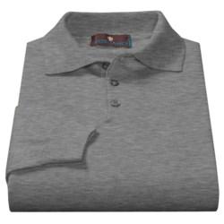 Toscano Polo Sweater - Italian Merino Wool (For Men) in Pompeii Melange