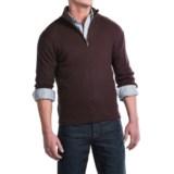 Toscano Ribbed Mock Neck Sweater - Merino Wool (For Men)