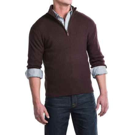 Toscano Ribbed Mock Neck Sweater - Merino Wool (For Men) in Cosmos - Closeouts