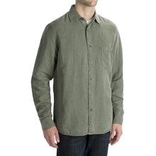 Toscano Silk-Linen Shirt - Long Sleeve (For Men) in Jungle - Closeouts