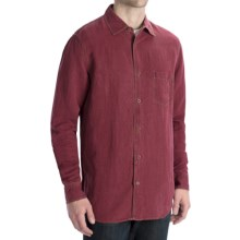 Toscano Silk-Linen Shirt - Long Sleeve (For Men) in Red - Closeouts