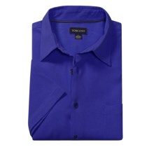 Toscano Silk Shirt - Short Sleeve (For Men) in Dark Blue - Closeouts