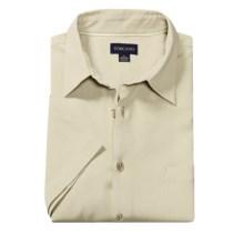 Toscano Silk Shirt - Short Sleeve (For Men) in Seashell - Closeouts
