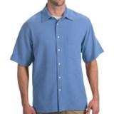 Toscano Silk Shirt - Short Sleeve (For Men)