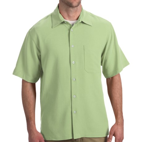 Toscano Silk Shirt - Short Sleeve (For Men) in Spring