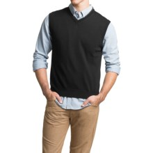 Toscano Sweater Vest - Merino Wool (For Men) in Black - Closeouts