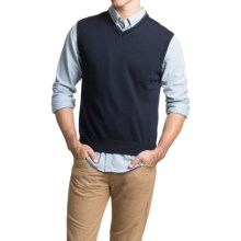 Toscano Sweater Vest - Merino Wool (For Men) in Dark Midnight - Closeouts