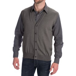 Toscano Tipped Merino Wool Sweater Vest - Zegna Barrufa, Button Front (For Men) in Flint Melange
