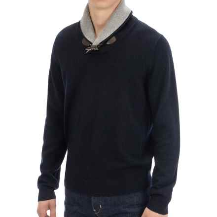 Toscano Toggle Shawl Collar Sweater - Merino-Acrylic (For Men) in Dark Midnight - Closeouts