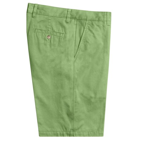 Toscano Twill Shorts - Cotton (For Men) in Green Tea