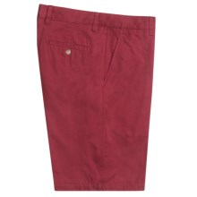 Toscano Twill Shorts - Cotton (For Men) in Mid Red - Closeouts
