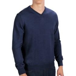 Toscano V-Neck Sweater - Merino Wool (For Men) in Cosmos Melange