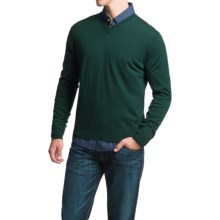 Toscano V-Neck Sweater - Merino Wool (For Men) in Green Lake - Closeouts