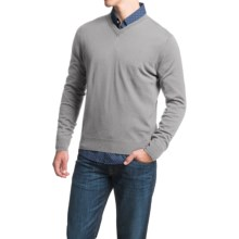 Toscano V-Neck Sweater - Merino Wool (For Men) in Mist Melange - Closeouts