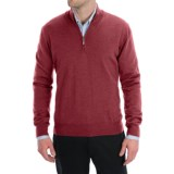 Toscano Zip Mock Neck Sweater - Merino Wool (For Men)