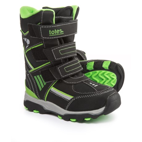 totes Apex Snow Boots (For Little and Big Boys) in Black/Lime