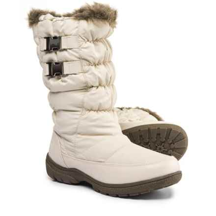 Totes Double-Buckle Winter Boots - Waterproof, Insulated (For Women) in Cream - Closeouts