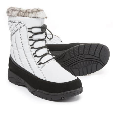 totes Elle Pac Boots - Insulated (For Women) in White/Black