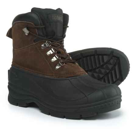totes Glacier Lace-Front Pac Boots - Waterproof, Insulated (For Men) in Brown - Closeouts