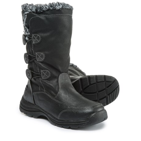 totes Mya Snow Boots - Waterproof, Insulated (For Women) in Black