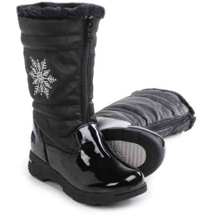totes Snowflake Snow Boots - Waterproof (For Little and Big Girls) in Black - Closeouts