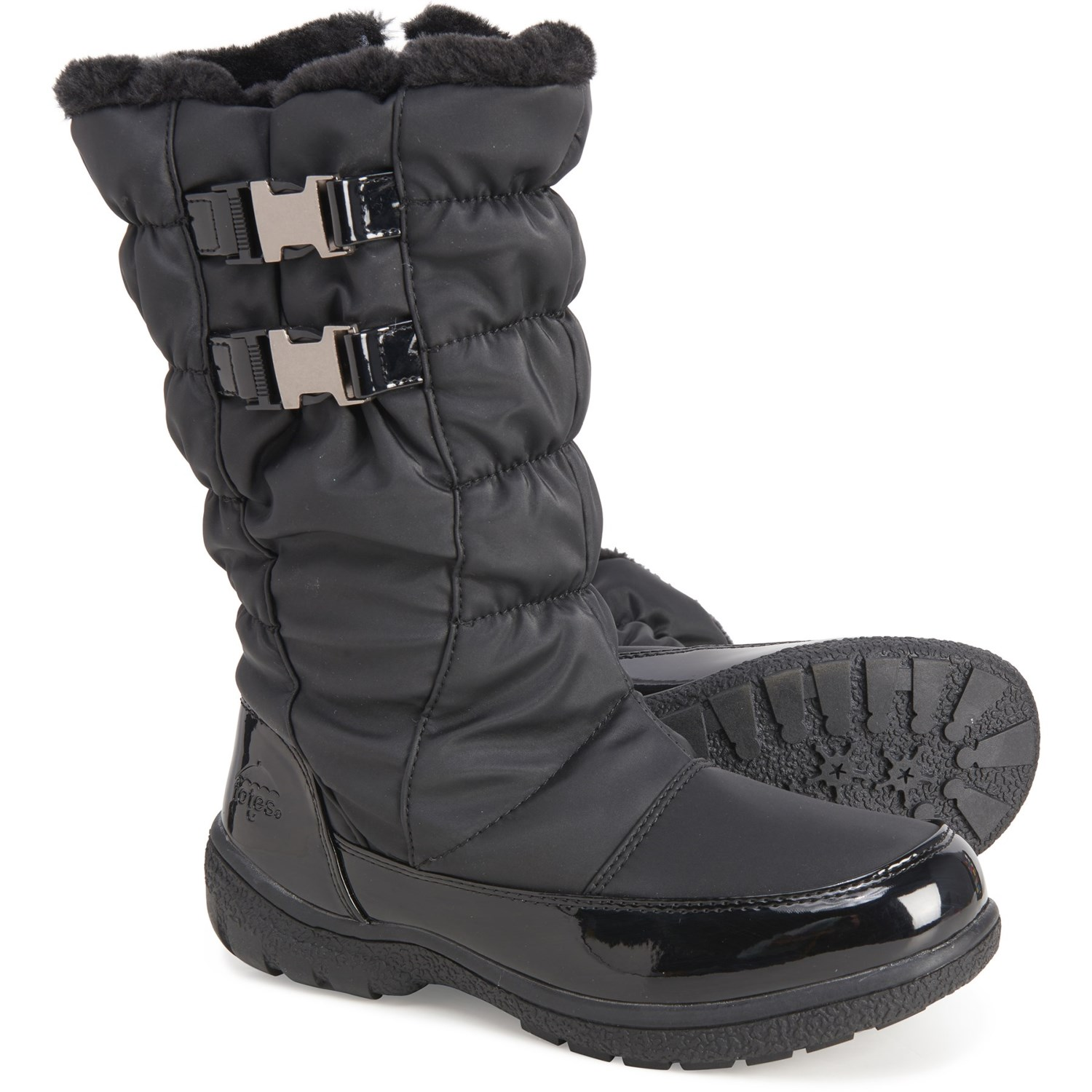 totes Two-Buckle Winter Boots (For
