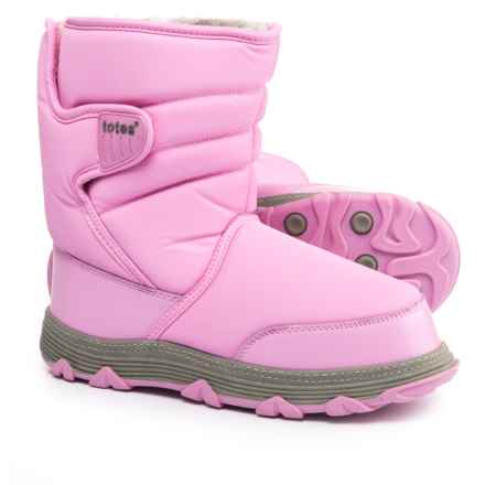 totes Vana Snow Boots - Waterproof (For Little and Big Girls) in Pink - Closeouts