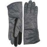 Touchpoint Ruched Thinsulate® Gloves - Touchscreen Compatible (For Women)