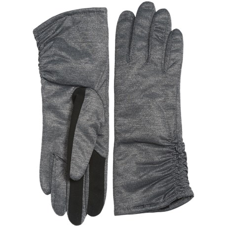 Touchpoint Ruched Thinsulate® Gloves - Touchscreen Compatible (For Women) in Stonewall