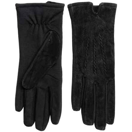 Touchpoint Smart Gloves Leather Gloves - Touchscreen Compatible (For Women) in Black - Overstock