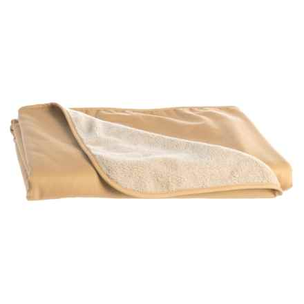 """Tough Duck Berber and Twill Camp Blanket - 45x56"""" in Tan - Closeouts"""