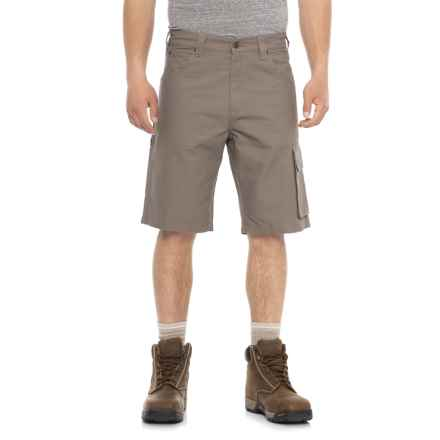 Tough Duck Canvas Cargo Work Shorts (For Men) in Clay - Closeouts