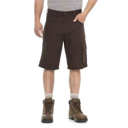 Tough Duck Canvas Cargo Work Shorts (For Men) in Coffee - Closeouts