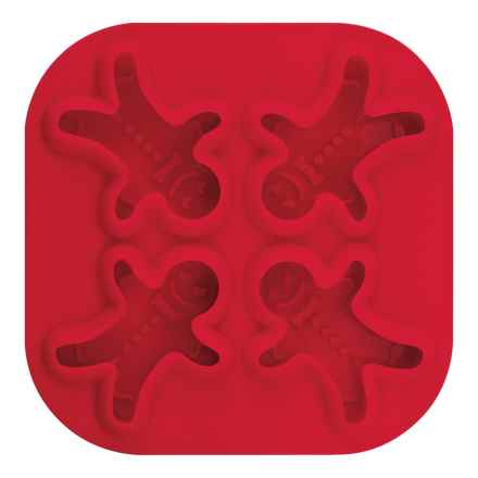 Tovolo Gingerbread Man Silicone Ice Trays in Red - Closeouts