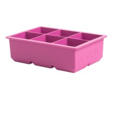 """Tovolo King Cube Silicone Ice Cube Tray - 2"""" Ice Cubes in Orchid - Closeouts"""