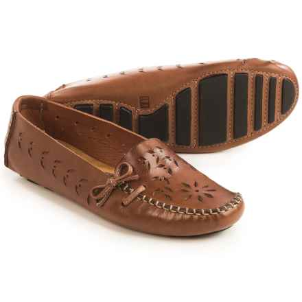 Tower 10 Sage Perforated Leather Moccasins (For Women) in Brown - Closeouts