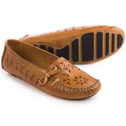 Tower 10 Sage Perforated Leather Moccasins (For Women) in Camel - Closeouts