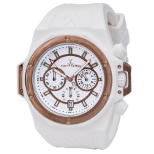 Toy Watch Toystrong Chrono Silicone Watch (For Men) in White/Rose Gold/White - Closeouts