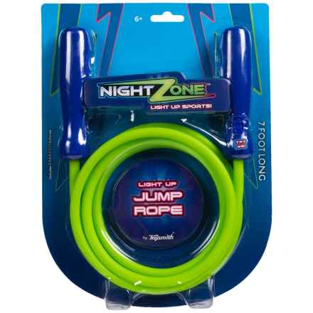 Toysmith NightZone® Jump Rope - 7' in Green - Closeouts
