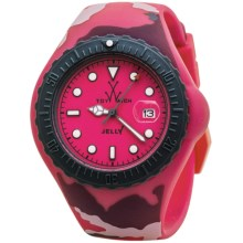 ToyWatch Camouflage Watch - Jelly Silicone, 44mm (For Men and Women) in Pink/Pink Camo - Closeouts