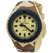 ToyWatch Camouflage Watch - Jelly Silicone, 44mm (For Men and Women) in Yellow/ Yellow Camo - Closeouts