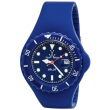 Toywatch Jelly Silicone Watch - Large Face (For Men and Women) in Blue/Blue - Closeouts