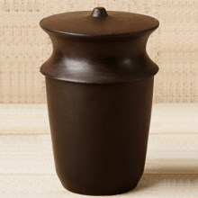 Tozai Mid-Modern Century Round Covered Box - Mango Wood in Mango Wood - Closeouts