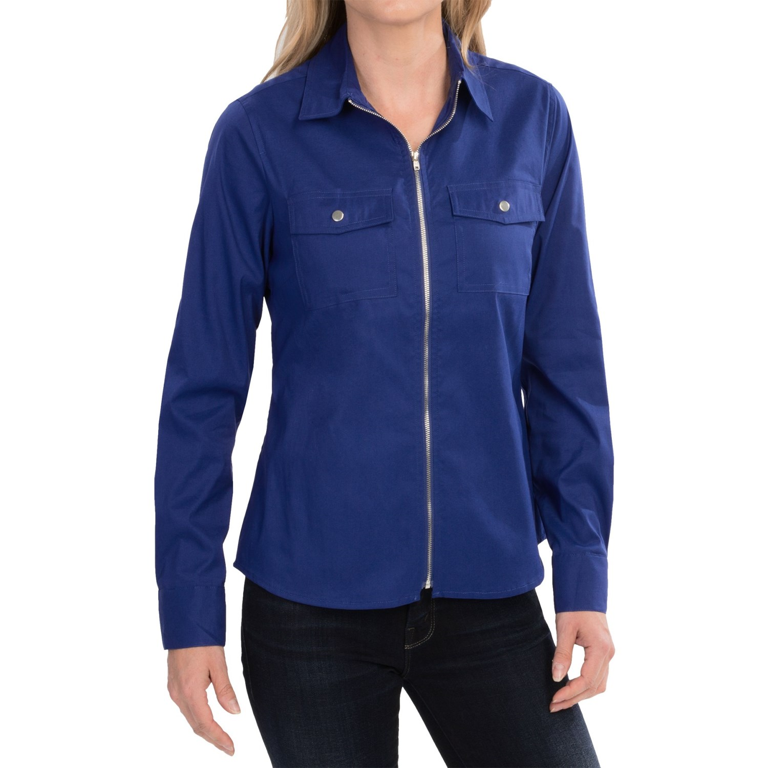 Tracy M Zip Front Shirt For Women Save 89
