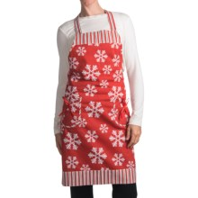 Traditions by Waverly Hostess Apron in Snowflake - Closeouts