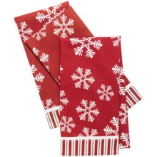 Traditions by Waverly Kitchen Towels - Set of 3 in Snowflake - Closeouts