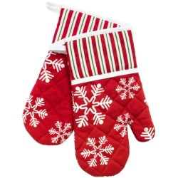 Traditions by Waverly Oven Mitts - Set of 2 in Snowflake